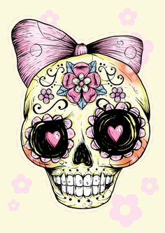 I want a sugar skull tattoo so bad!! I am fascinated with them!!