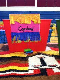 Book Fair Fiesta:  Teacher wish box and signage.