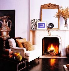 Habitually Chic ralph lauren, fireplace mantles, elle decor, color, fireplace mantels, white walls, fireplaces, live room, homes