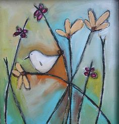 little bird painting would be cool in fused glass