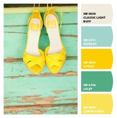 New house interior color schemes on pinterest - Blue and yellow paint schemes ...