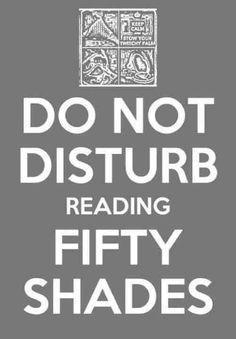 reading Fifty Shades of Grey