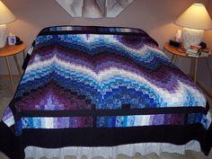 Bargello quilt. Design