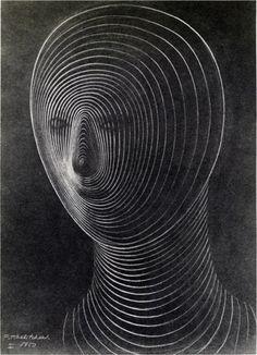 Pavel Tchelitchew, Head, 1950