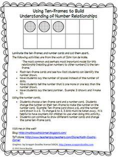 Using Ten-Frames to Build Number Relationships