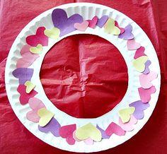 Heart Wreath Valentine's Day Craft