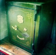 Unusual decor - like this antique safe - makes us unusually happy. #nesthappyhomes http://youtu.be/vLmFSloPmk8