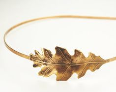 Oak leaf headband ~