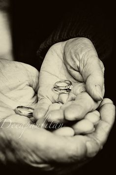 Grandparents holding the newlyweds rings...how precious