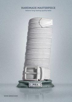 Handmade Masterpiece. Italian long lasting quality belts. #dladvertising