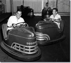 Elvis on the bumper car ride