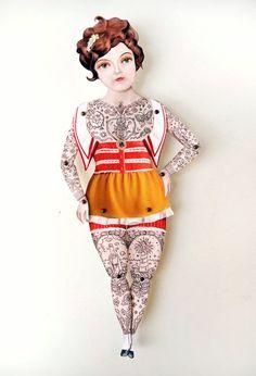 tatooed lady paper doll