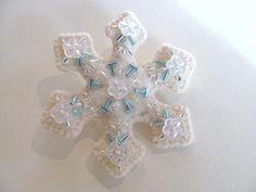 Beaded Felt Snowflake