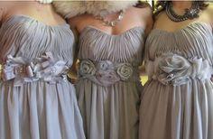 DIY bridesmaids belts