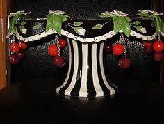 Pedestal Base of cherries cake plate