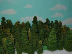 mini pine trees.