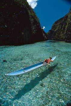 Crystal clear water in the Philippines