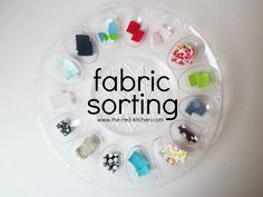 Fabric Sorting (a cheap, easy, fun, & educational toddler activity)    www.the-red-kitchen.com