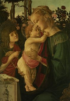 The Madonna and Child with the Infant Saint John the Baptist - Sandro Botticelli