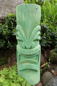 TIKI CARVING - tiki farm - tiki bar tv mug sculpture. $85.00, via Etsy.