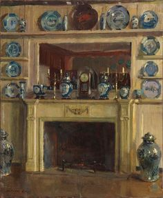Blue and White, 1904, by Walter Gay, which painting I wouldn't have known except for its being featured in Architectural Digest by the brilliant Mitchell Owens, author of An AesthetesLamentdotblogspotdotcom, the greatest decorating & design history blog ever.