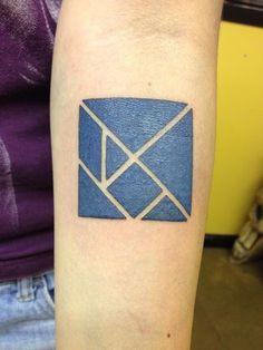 Tangrams tattoo! Tim Corun / Jinx Proof Tattoos / Washington, D.C.