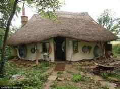 cabin, cob home, farmer, build house, the hobbit