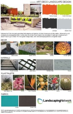 Bring the glamour of Hollywood to your yard with these ideas for creating an art deco garden. For a high-res, printable PDF of this style guide go to http://www.landscapingnetwork.com/garden-styles/Art-Deco-Landscape-Design.pdf.