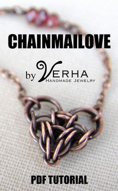 Chainmailove unit #chainmaille #heart #tutorial pdf by Verha on Etsy, $7.00