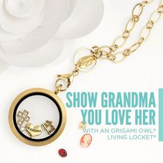 Origami Owl Gold Living Locket, Grandma Cross Cameo Sewing Machine Vintage  www.owllockets.com