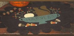 SALE  Primitive Folk Art Wool Applique Pattern  by PrimFolkArtShop, $4.00