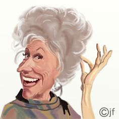 Phyllis Diller  (by John Fisher)