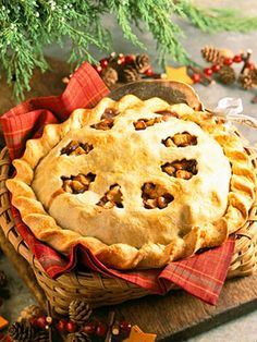 This old-fashioned pie is a Christmas tradition in many families. Look for jars of mincemeat with the pie fillings during the holiday baking season.