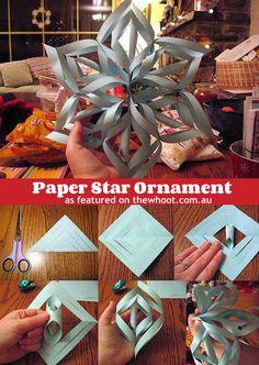 paper star ornament