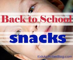 The kids and I are getting tired of eating the same snacks each day - time to pull out the list of after-school snack ideas!