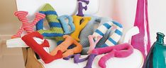 Knit the Alphabet pattern by Claire Garland