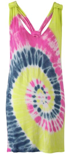 tie dye coverup - READ at: http://boomerinas.com/2013/03/take-your-trend-to-the-beach-swimsuits-follow-fashion/