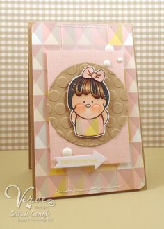 Card by Sarah Gough using Twitterpated from Verve.  #vervestamps