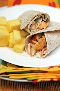 Grilled Orange Sesame Chicken Wraps with Asian Cole Slaw | 5DollarDinners.com