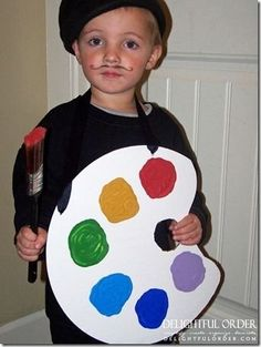 What a great DIY costume for your little artist! #halloween2013