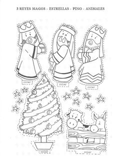 Wijzen uit het oosten, knutselen met kleuters, free printable / Wise men / figuras_para_recortar_y_montar craft, xmas, nacimiento, navidad, nadal, recortar, christma