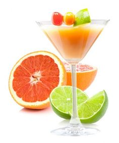 Malibu Sunset Daiquiri (1 1/2 oz. coconut rum  1/2 oz. Lime Juice  1/2 oz. grapefruit juice  1 1/2 oz. Sweet & Sour Mix)