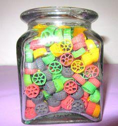 Color macaroni to use as bingo chips...