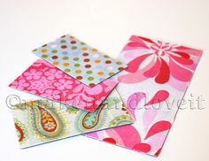 Fabric magnets - a great way to cover up those promo magnets you get in the mail!