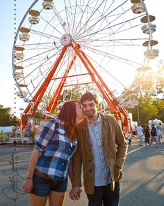 Jackie Santana Photography, State Fair Couples Session, State Fair Engagement  #kiss #kisses #kissing #couple #love #passion #romance #fair
