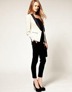 black and white tuxedo jacket