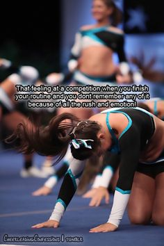 Exactly how I feel after every competition!