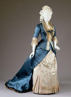 Reception dress ca. 1877-78  From the Cincinnati Art Museum