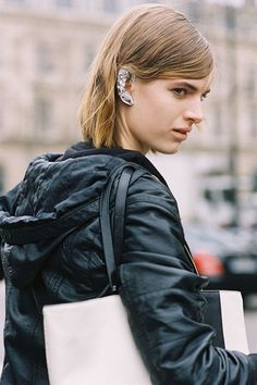 #AshleighGood and her ear bling #offduty in Paris. #VanessaJackman