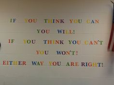 Great idea- Put your favorite quote on your wall!